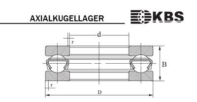 Axialkugellager Zeichnung