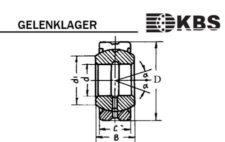 1 Gelenklager GEG 12 ES GE12 GE 12 FO  12x26x15